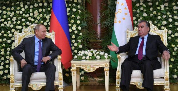 Встреча президентов Таджикистана и России